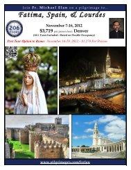Fatima, Spain, & Lourdes - 206 Tours