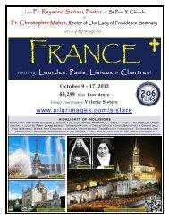 www.pilgrimages.com/sistare visiting: Lourdes, Paris ... - 206 Tours