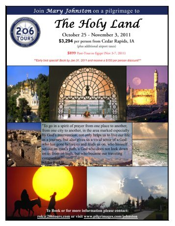 a printable flyer - 206 Tours