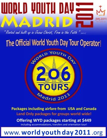 Offering WYD packages starting at $449 - 206 Tours