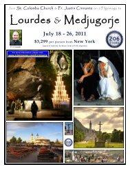 Lourdes & Medjugorje - 206 Tours