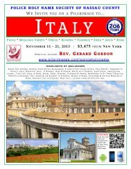 POLICE HOLY NAME SOCIETY OF NASSAU COUNTY ... - 206 Tours
