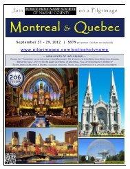Montreal & Quebec - 206 Tours