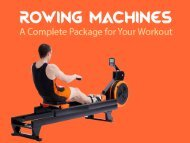 Gym & Fitness Equipment Australia - Rowing Machines: A Full Workout Package