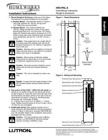 Hwi Pnl Lutron Homeworks Wiring Diagram 5 - Wiring Diagram
