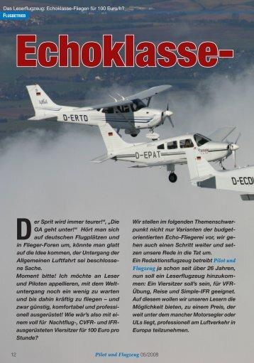 PuF_200805_100EuroFl.. - Pilot und Flugzeug