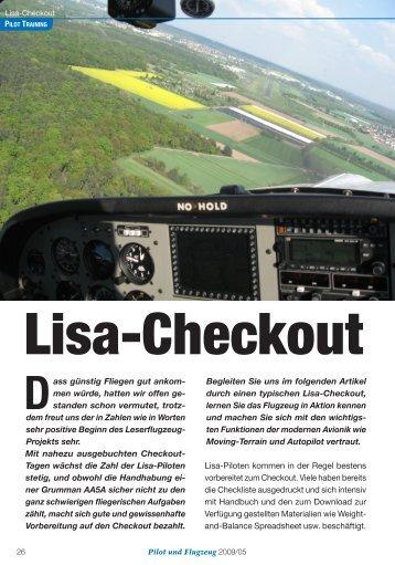 Der Lisa-Checkout - Pilot und Flugzeug