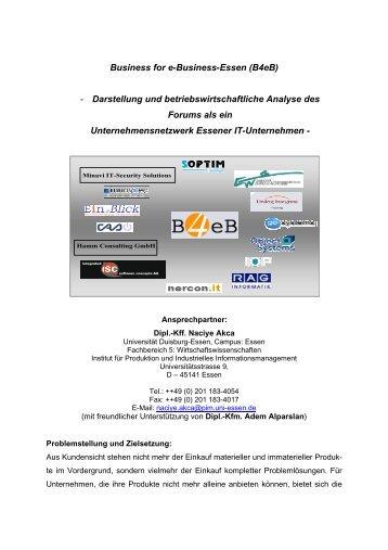 Projektbericht B4eB - Institut für Produktion und Industrielles ...