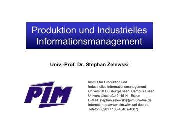 Produktions - Institut für Produktion und Industrielles ...