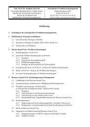 Detailierte Gliederung - Institut für Produktion und Industrielles ...