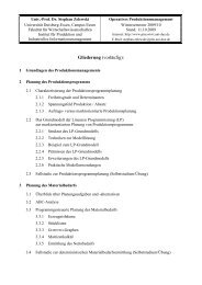 Gliederung (vorläufig): - Institut für Produktion und Industrielles ...