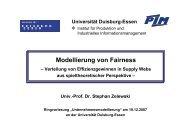 Vortragsunterlagen - an der Universität Duisburg-Essen