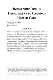 Indigenous Youth Engagement in Canada's Health Care - Pimatisiwin