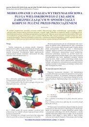 Modelowanie i analiza wytrzymałościowa pługa wieloskibowego z ...