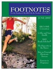 Footnotes June 07.indd - Pine Belt Pacers