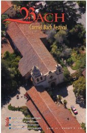 Carmel Pine Cone, July 18, 2008 (Bach Fest) - The Carmel Pine Cone