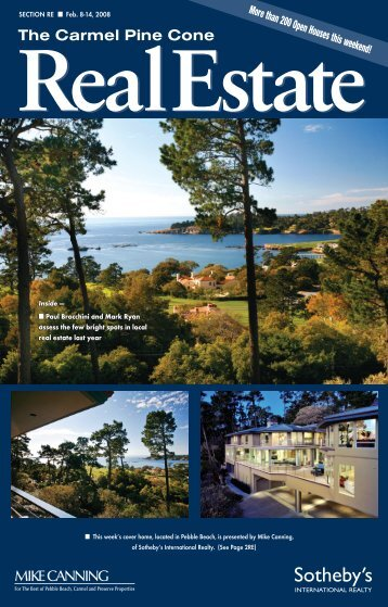 Carmel Pine Cone, February 8, 2008 (real estate) - The Carmel Pine ...