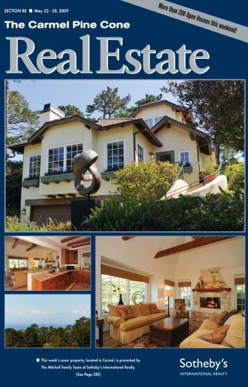 Carmel Pine Cone, May 22, 2009 (real estate) - The Carmel Pine ...