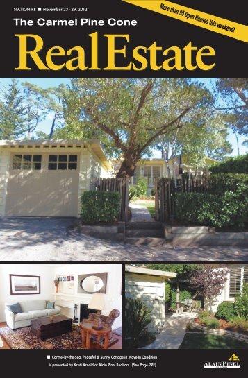 Carmel Pine Cone, November 23, 2012 (real estate) - The Carmel ...