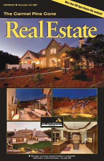 Carmel Pine Cone, November 2, 2007 (real estate web)