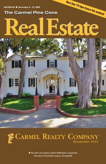 Carmel Pine Cone, November 11, 2009 (real estate) - The Carmel ...