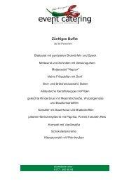 Zünftiges Buffet - Event Catering Hannover