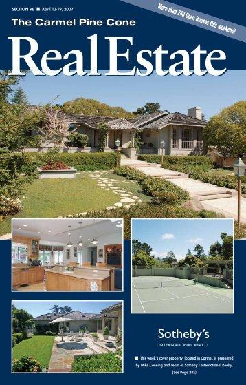 Carmel Pine Cone, April 13, 2007 (web real estate) - The Carmel ...