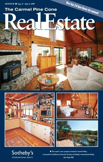 Carmel Pine Cone, August 31, 2007 (real estate web) - The Carmel ...