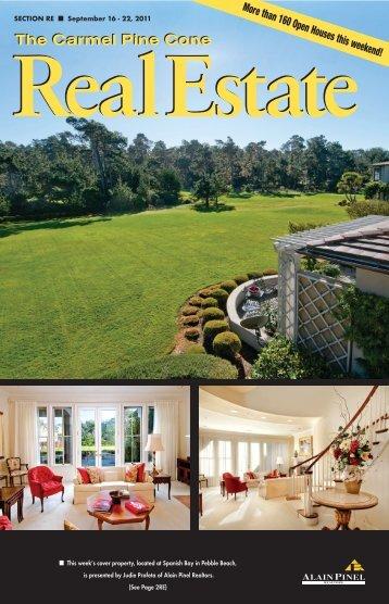 Carmel Pine Cone, Sept. 16, 2011 (real estate) - The Carmel Pine ...