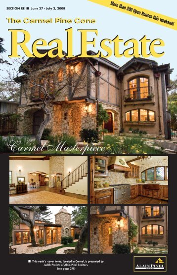 Carmel Pine Cone, June 27, 2008 (real estate) - The Carmel Pine ...