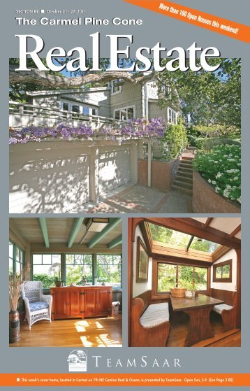 Carmel Pine Cone, October 21, 2011 (real estate) - The Carmel Pine ...