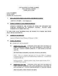city of pinellas park, florida city council agenda february 28, 2008 ...