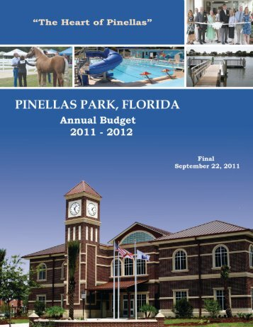 Fiscal Year 11-12 Final Budget - City of Pinellas Park