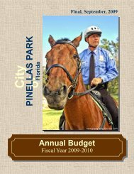 Fiscal Year 09-10 Final Budget - City of Pinellas Park