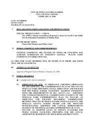 city of pinellas park, florida city council agenda february 14, 2008 ...