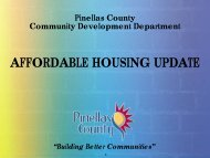 AFFORDABLE HOUSING UPDATE - Pinellas County