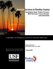 Report To Pinellas County Human Services