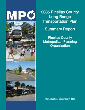 2035 LRTP Summary Report - Pinellas County