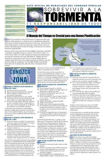 Guía de Huracanes - Pinellas County