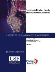 An Existing Information/Data Review - Pinellas County