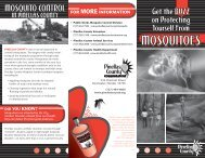 Mosquitoes Brochure - Pinellas County