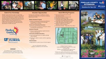 Extension Brochure - Pinellas County