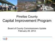 Capital Improvement Plan Update - Pinellas County