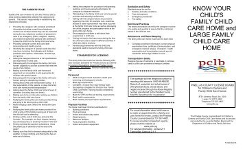 Know Your Family Child Care Home Brochure - Pinellas County ...