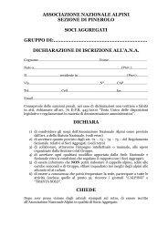 Modulo iscrizione Aggregato - ANA Sezione di Pinerolo ...