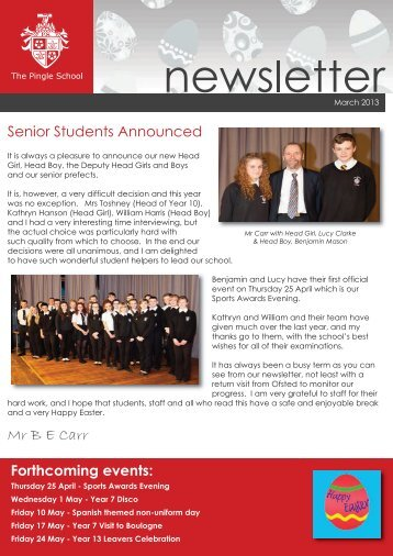 March 2013 - The Pingle School