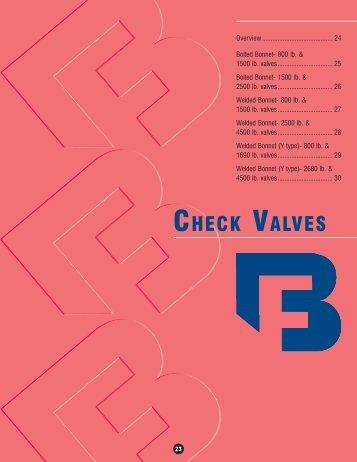 CHECK VALVES - Pinhol