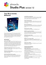 Pinnacle Studio Plus 12 Fact Sheet