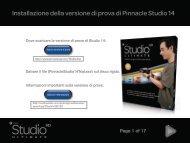 Installazione della versione di prova di Pinnacle Studio 14