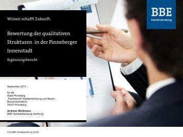 Bewertung der qualitativen Strukturen in der ... - Stadt Pinneberg